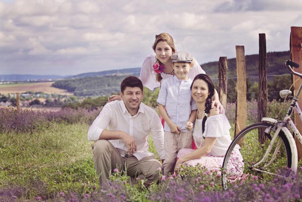 fotím rodiny venku Brno