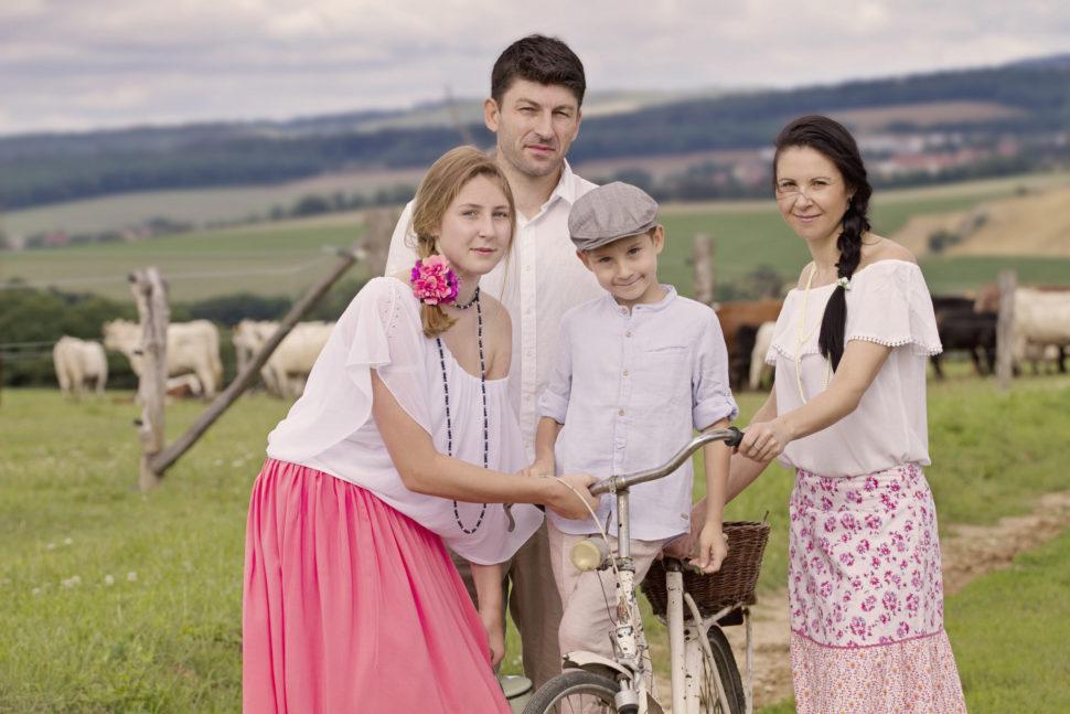 rodinná fotografie v exteriéru Brno
